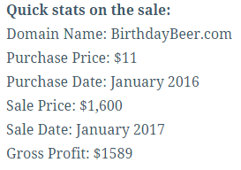 Behind the sale BirthdayBeer