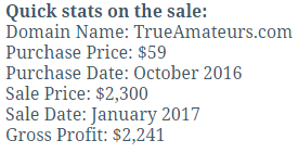 Behind the sale TrueAmateurs
